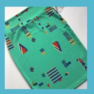 Lularoe Dark Mint Lime Green Cassie Pencil Skirt M